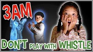 DO NOT PLAY WITH A WHISTLE AT 3AM!! 【深夜に笛で遊んじゃダメ!】なりきり夏のホラー ゴースト かのん&りんたん ♥ -Bonitos TV- ♥
