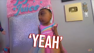 North west saying yes for 1 minute straight FT jojo siwa