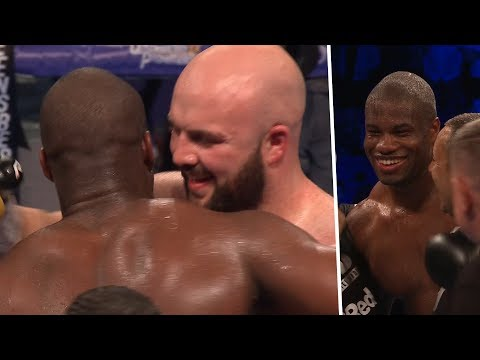Heartwarming scenes after knockout! Daniel Dubois runs over to console Nathan Gorman