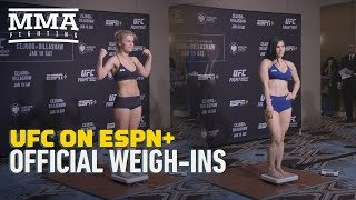 UFC Brooklyn Official Weigh-In Highlights - MMA Fighting