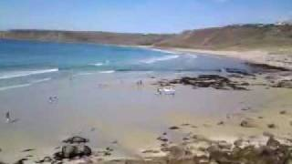 Roselands Caravan and Camping Park, view of Sennen Cove Cornwall