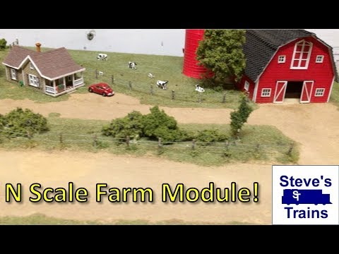 Module N Scale Layout Part 5: A Farm Module