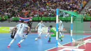 ไฮไลท futsal thailand five 2017   12 ก ย 60   ไทย 1 2 อาร เจนต นา