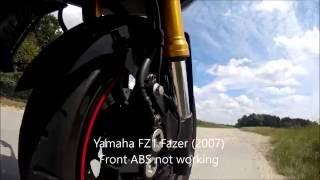 yamaha fz 1 abs problem und lsung anti lock brake code 41 fix see description