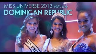 Miss Universe 2013 Gabriela Isler visits the Dominican Republic