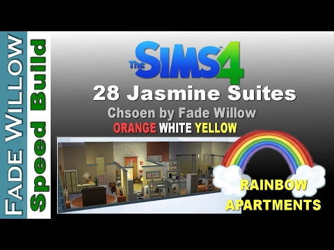 Rainbow Apartments  - Sims4 Speed Build - 28 Jasmine Suites  - Fade's Choice