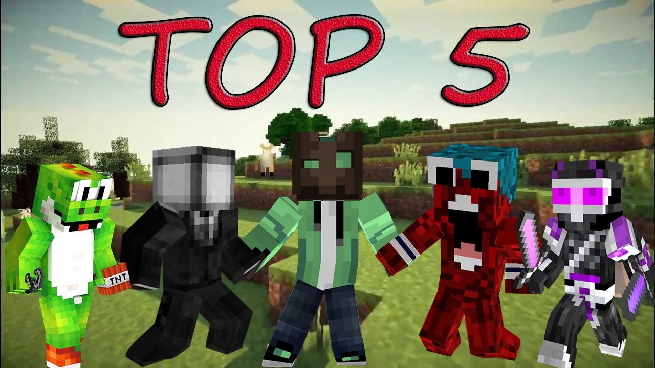 TOP MEJORES SKIN DE MINECRAFT YOUTUBERS YouTube - Skins para minecraft pe de youtubers