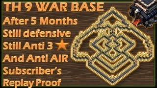 CLASH OF CLANS | TH 9 ANTI AIR | BASE OF PAST STILL WORKING IN PRESENT AS ANTI 3 STARS