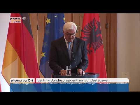 Statement Bundespräsident Frank-Walter Steinmeier zur Bundestagswahl