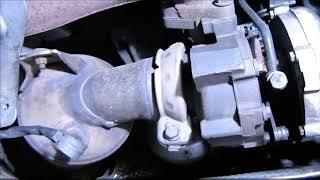 Remplacement des supports  moteur et démontage collecteur admission Mercedes (w203)