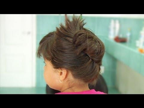 Recogido arreglado con ganchos peinados para ni a youtube - Peinados bonitos para ninas ...
