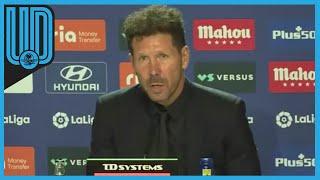 """Diego Simeone expresó que tanto la directiva como la dirección deportiva y el cuerpo técnico, encabezado por él, saben """"claramente"""" lo que necesitan """"para terminar de formar bien la plantilla para esta temporada"""", a una semana del cierre del mercado."""