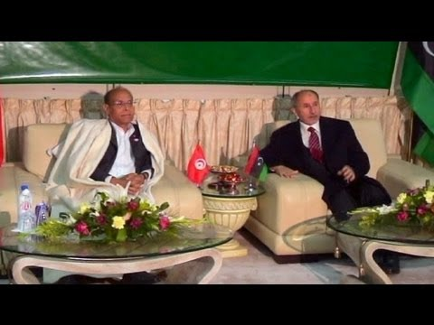 New Tunisia President on state visit to Libya