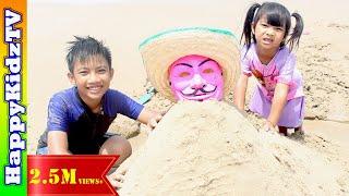 เที่ยวทะเล-เล่นทราย-กับ-คนใส่หน้ากาก-พี่แชมป์น้องปาน-happykidztv