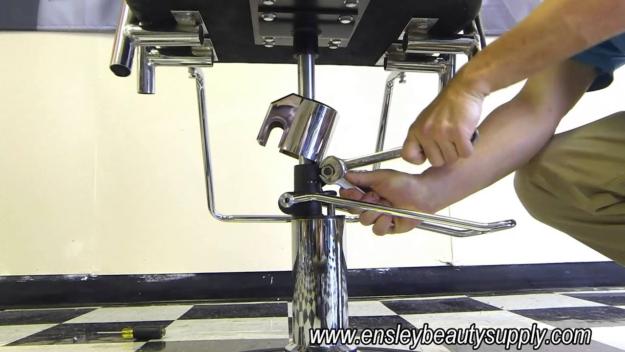 How to Adjust Hydraulic Salon Styling Chair Spin Tension