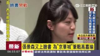張景森又上臉書 為京華城筆戰高嘉瑜|三立新聞台