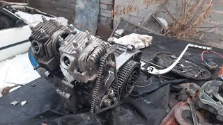 Четырехтактный (4т) иж юпитер 5 из стандартного двигателя! Мотор собран!