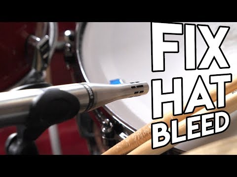 How To Record Heavy Drums -  Dealing With Hat Bleed
