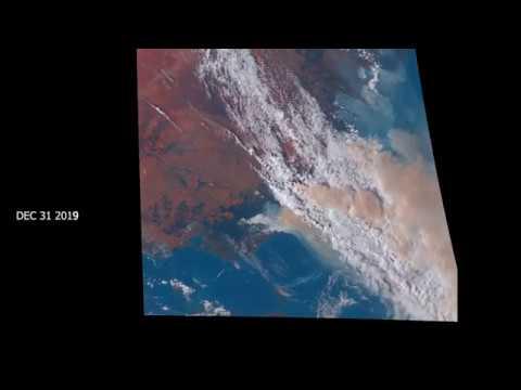 Detailed Satellite Footage Of Australian Bushfires