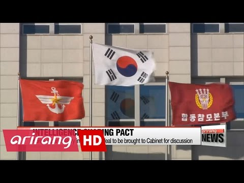 Korea-Japan military intel-sharing deal to be brought to Cabinet for discussion
