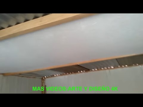 Techo de tecnopor calamina 9944 00258 youtube for Techos en drywall para casas