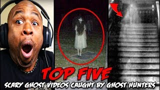 Top 5 Scary Ghost Videos Caught By Ghost Hunters REACTION!!