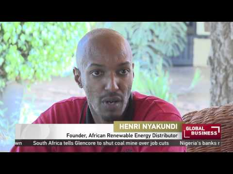 Rwanda entrepreneur creates a solar mobile charging kiosk