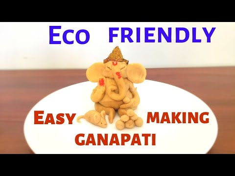 how-to-make-eco-friendly-ganapati-at-home-|-ganapati-making-with-clay-|-ganapati-making-with-clay