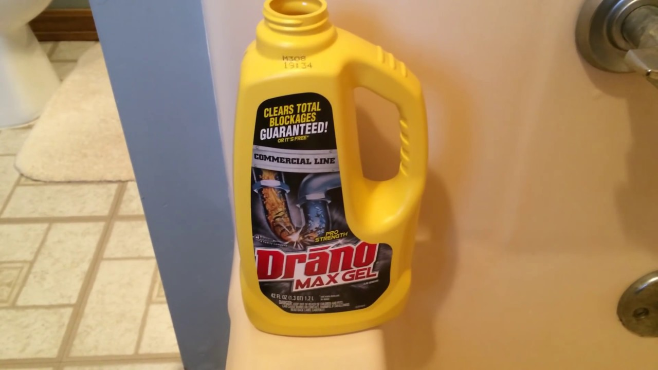 Tub Clogged? SHOWER-TUB won't drain - EASY FIX with DRANO ...
