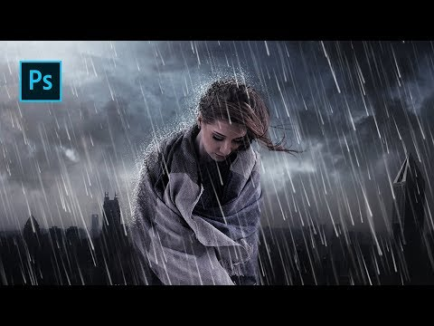 How To Make A Rain Manipulation Effect In Photoshop - Photoshop Manipulation Tutorials