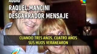 Raquel Mancini llora