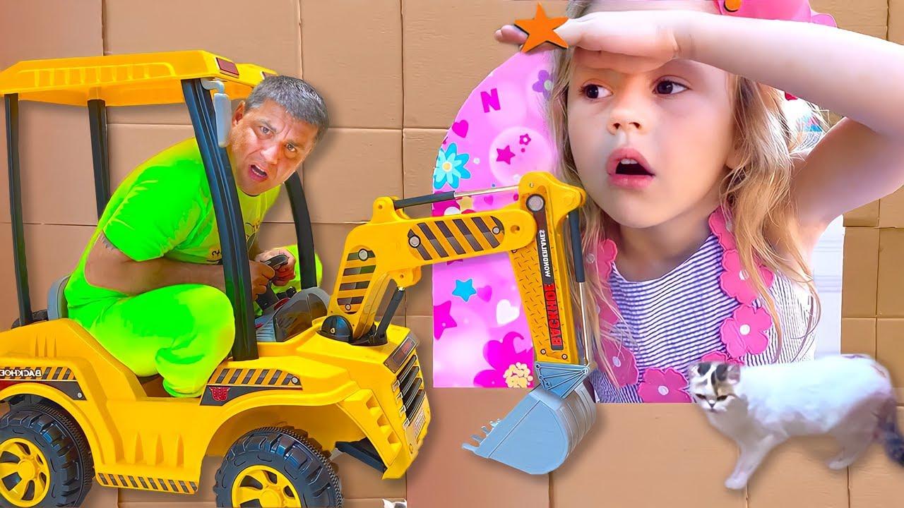Nastya bermain petak umpet dengan ayah! Sembunyikan dan Cari Tantangan