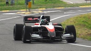 Formula Renault 3.5 Pure V8 Sound driving on public roads!