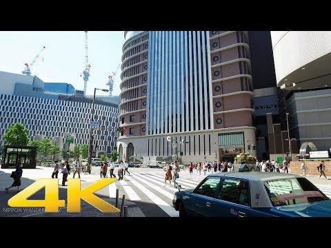 Walking around Umeda Kita-ku, Osaka Part2 - Long Take【大阪・梅田】 4K