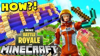 PLAYING FORNITE IN MINECRAFT?! - Fortnite Battle Royale