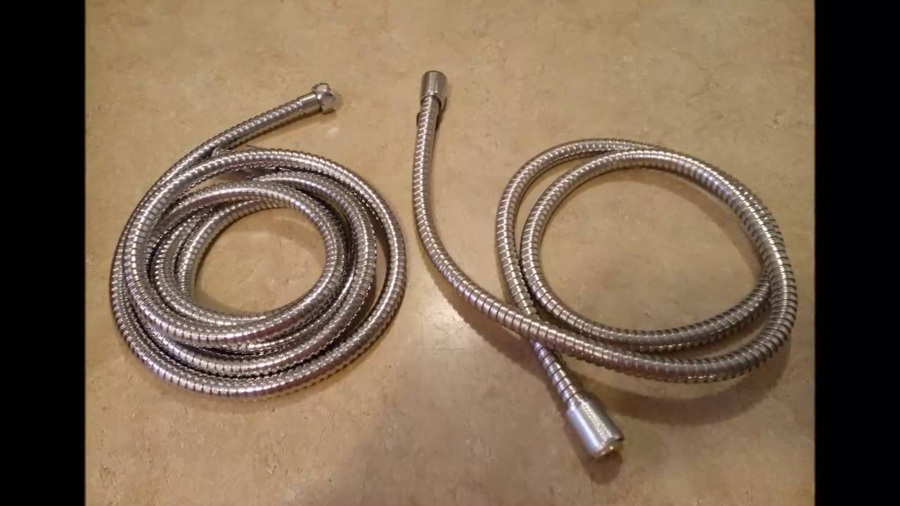 Review For - Shower Hose 8 ft Extra Long Stainless Steel - YouTube