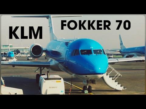 KLM Fokker 70, Amsterdam - Dusseldorf - Economy