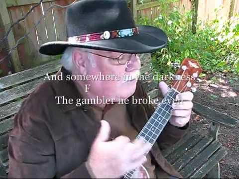 THE GAMBLER for the UKULELE : UKULELE LESSON / TUTORIAL by