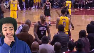 Houston rockets vs L.A. Lakers 1-19-2019. Reaction and my thoughts.
