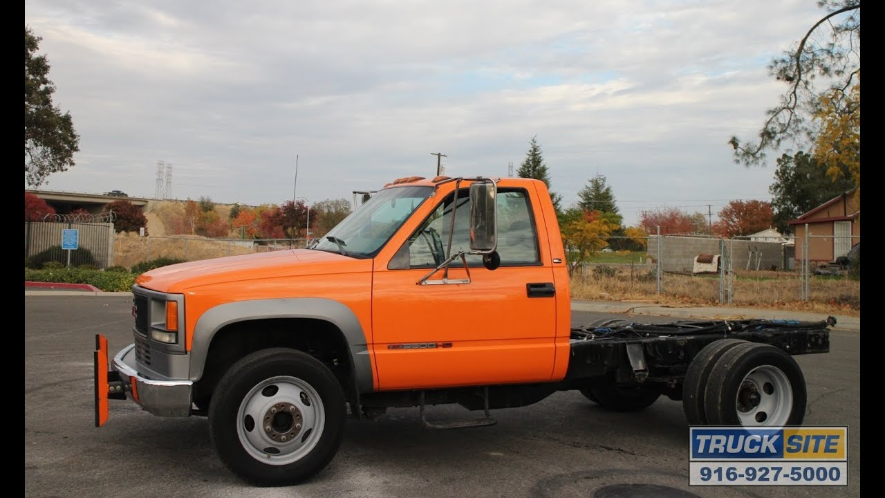 1999 gmc 3500hd cab chassis for sale youtube. Black Bedroom Furniture Sets. Home Design Ideas