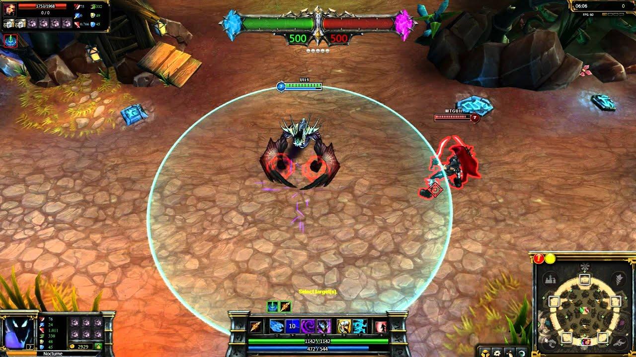 Void Nocturne League of Legends Skin Spotlight - YouTube