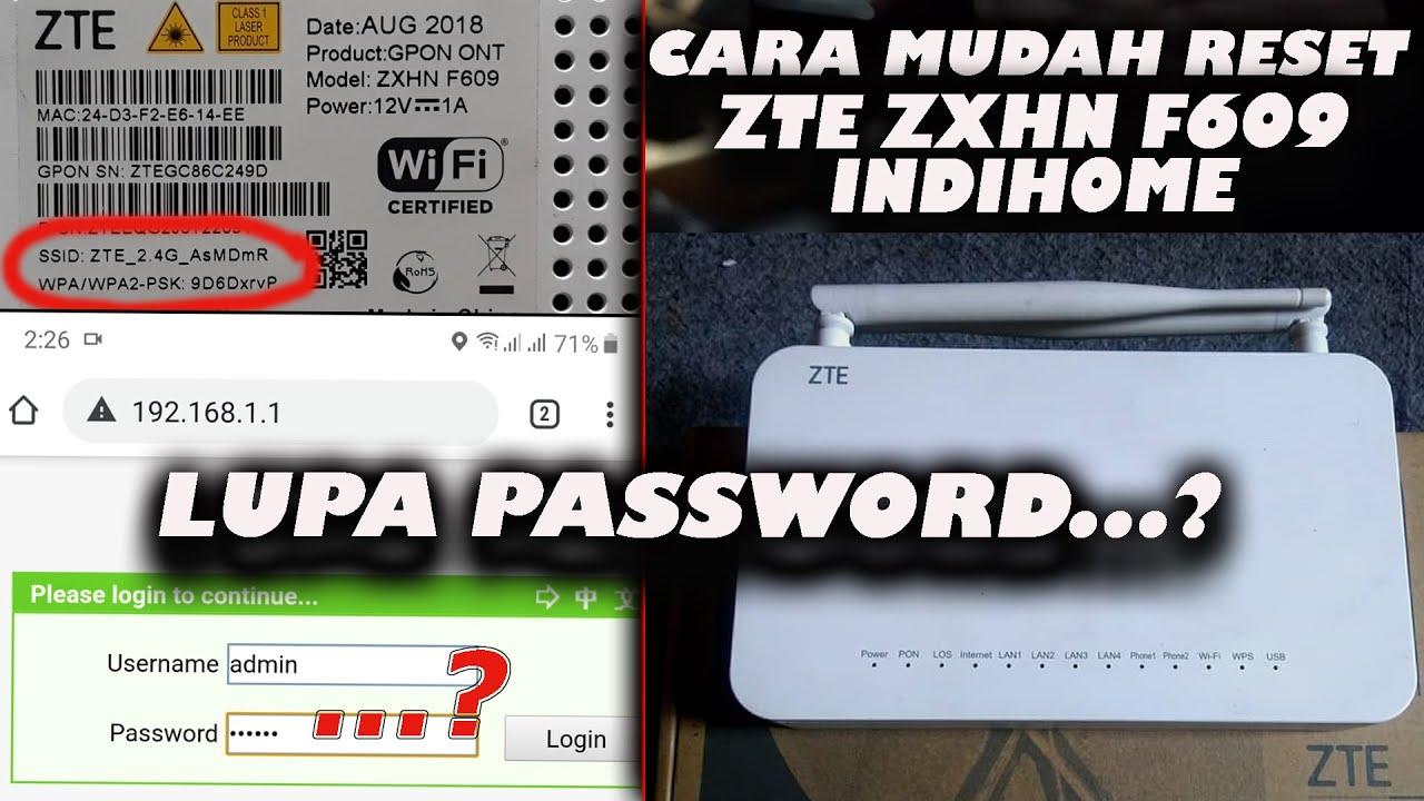 Zte User Interface Password For Zxhn F609 / ZTE ZXHN F609 ...