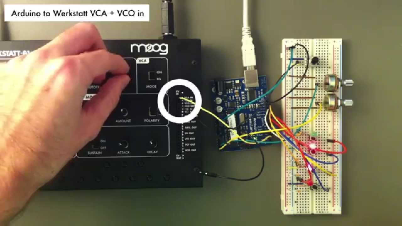 Arduino CV step sequencer for the Moog Werkstatt
