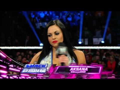 Paige vs Aksana Smackdown 18/4/14
