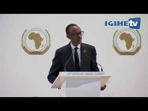 Key remarks of President Kagame at the opening of 27th AU Summit / 17th July 2016