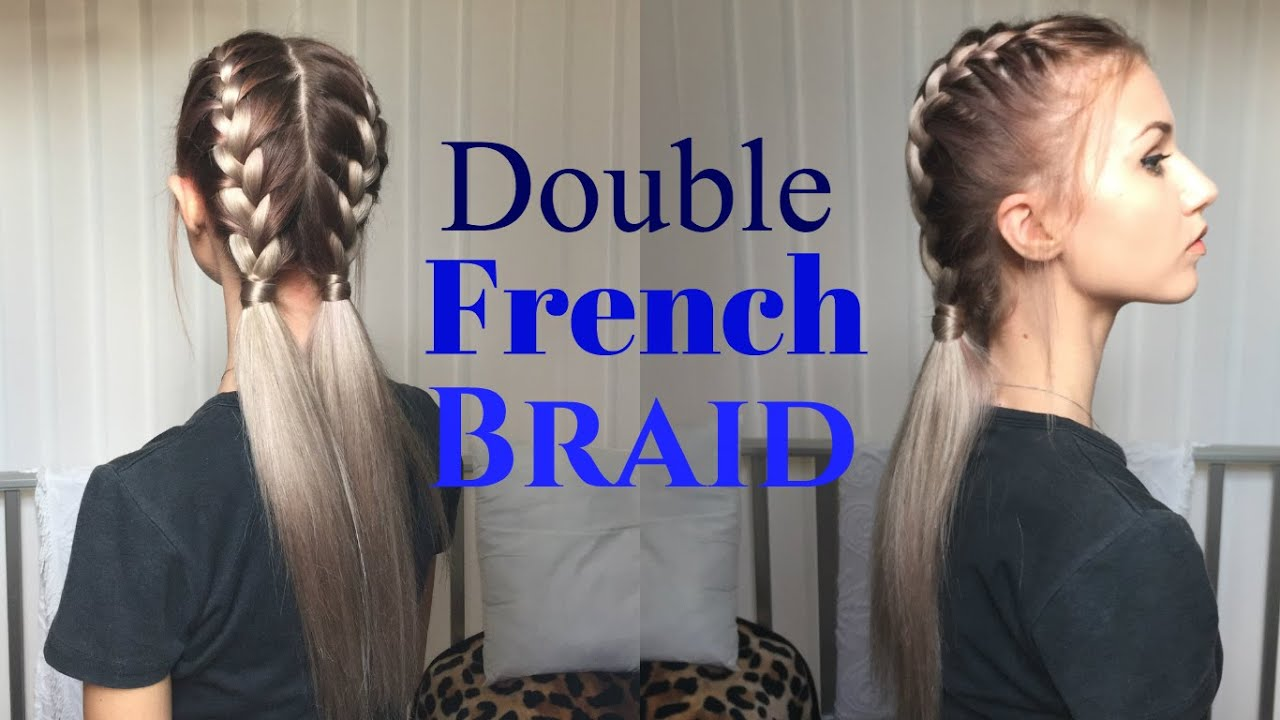 How to awesome easy double french braid stella youtube ccuart Choice Image