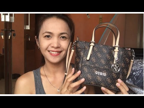 2f5b690bb2e3 Review jujur Guess Delaney mini petite tote - bahasa indonesia - YouTube