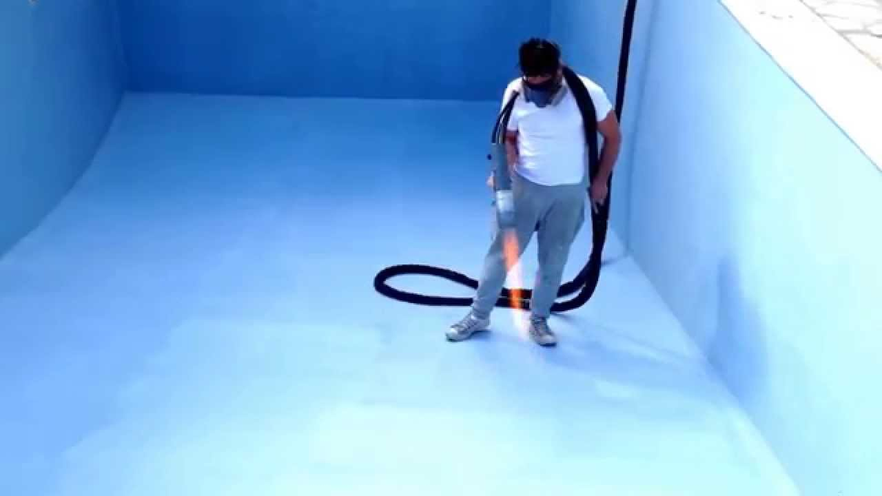 Revetement piscine aquabright ecofinish sur polyester - Revetement ideal pourtour de piscine ...