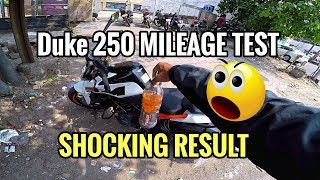 2018 DUKE 250 MILEAGE TEST | SHOCKING RESULT