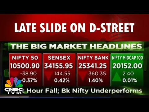 Markets today | Sensex Falls 144 pts, Nifty Manages to Hold 10,500; PSU Banks Drag | CNBC Tv18